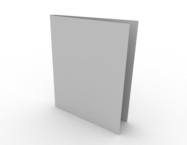Tarjeta en blanco 3d