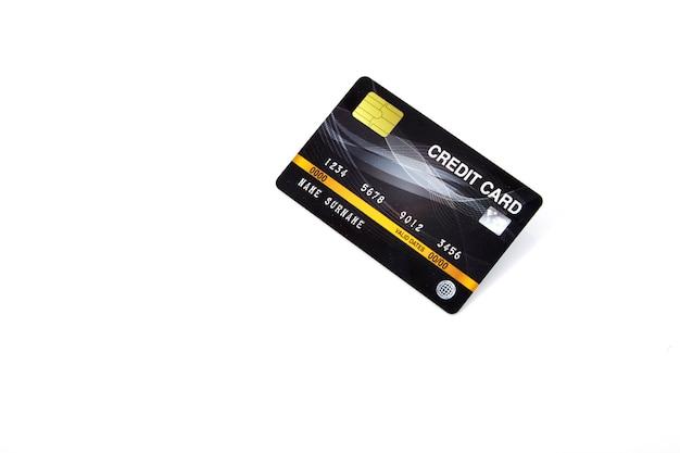Tarjeta de crédito bancaria negra