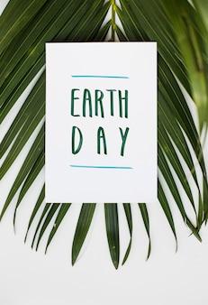 Tarjeta del día de la tierra apoyando la protección del medio ambiente.