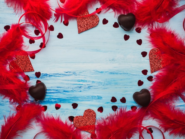 Tarjeta. espacio en blanco para dulces palabras de amor.