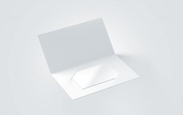 Tarjeta de felicitación blanca en blanco