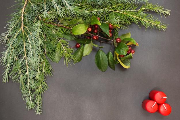 Tarjeta de felicitación con decoración fiesta feliz navidad y feliz año nuevo