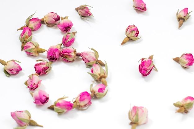 Tarjeta de felicitación día internacional de la mujer el 8 de marzo