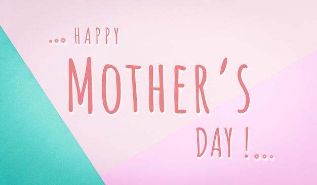 Tarjeta de felicitación del día de la madre feliz