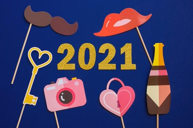Tarjeta de felicitación de feliz año nuevo 2021