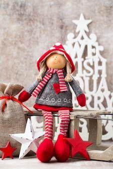 Tarjeta de felicitación de navidad. . símbolo de navidad.
