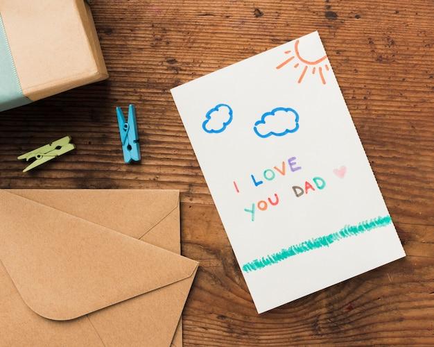 Tarjeta de felicitación para padre