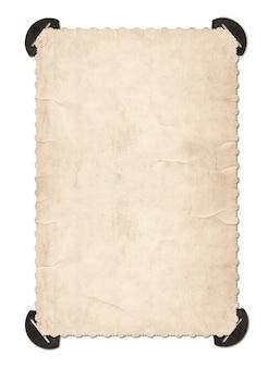 Tarjeta de foto antigua con esquina aislado sobre fondo blanco. marco de fotos de estilo retro