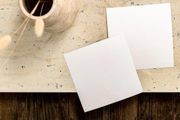Tarjeta de invitación en blanco estética, decoración del hogar