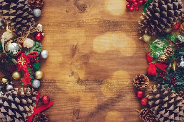 Tarjeta de navidad para el texto