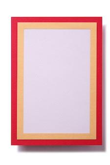 Tarjeta de regalo borde rojo dorado plantilla vertical