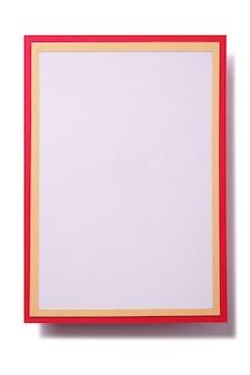 Tarjeta de regalo de navidad con marco de borde rojo