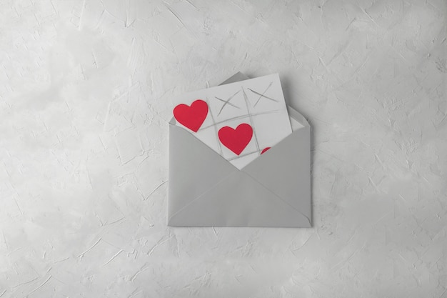 Tarjeta de saludos hecha a mano del día de san valentín
