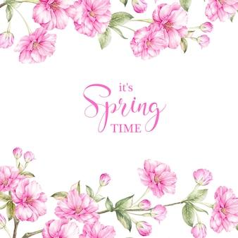 Tarjeta de tiempo de primavera.