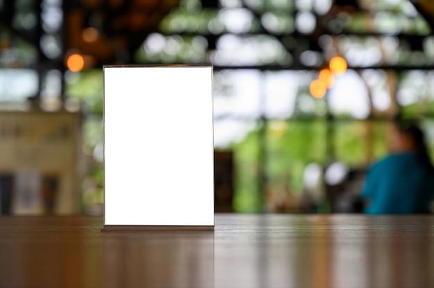 Tarjeta de la tienda del marco del menú