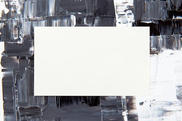 Tarjeta de visita en blanco, fondo de pintura con textura