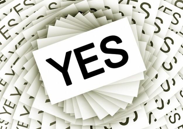 Tarjetas de compromiso positivo espiral consentimiento sí muchos