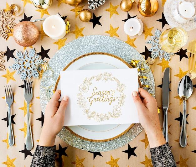 Tarjetas de regalo de saludos de felicitación de temporada