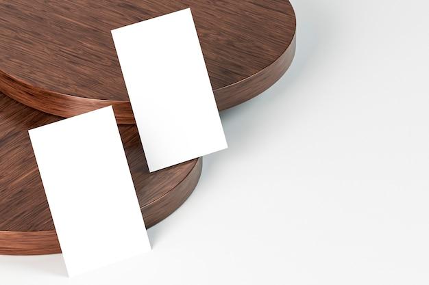 Tarjetas de visita de documentos de papel blanco vacío