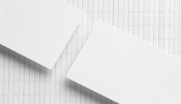 Tarjetas de visita de espacio de copia corporativa en blanco