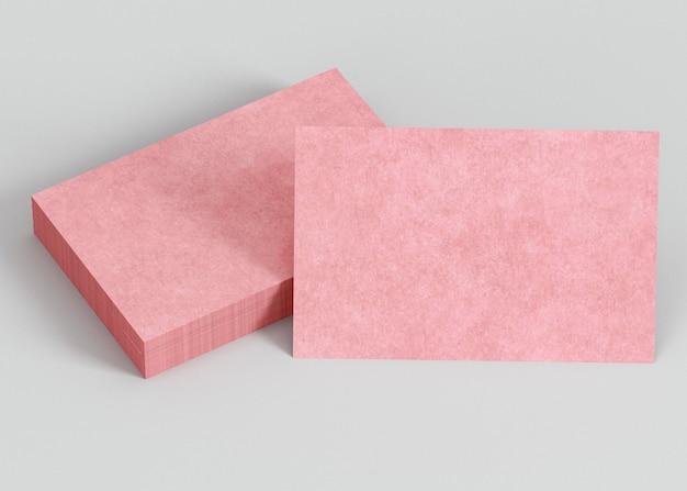 Tarjetas de visita de espacio de copia rosa