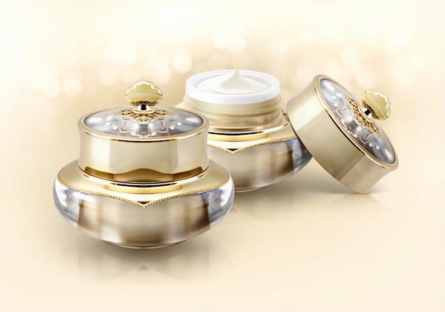 Tarros cosméticos corona dorada