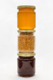 Tarros de polen y miel