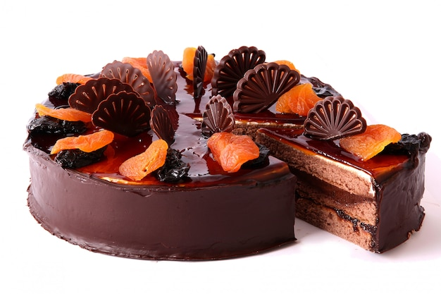 Tarta de chocolate con frutos secos