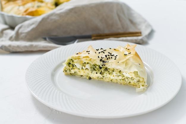 Tarta de espinacas francesas.