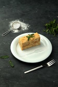 Tarta napoleón con crema pastelera ligera