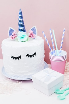 Tarta de unicornio