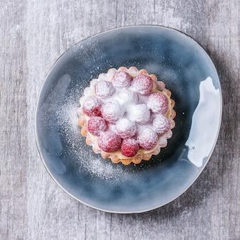 Tartaleta con frambuesas
