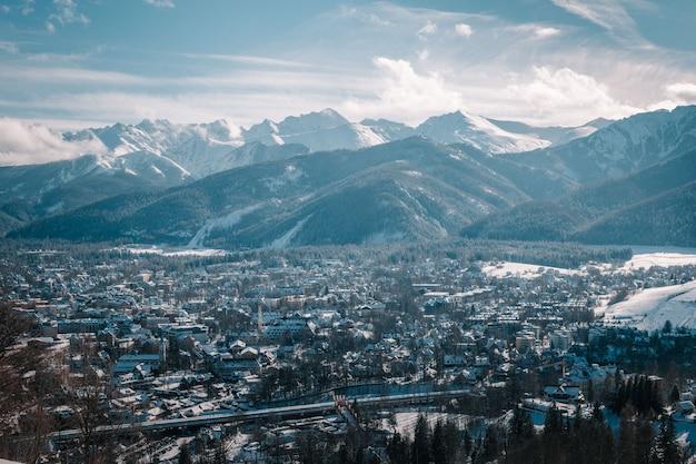 Tatry en invierno, tiro hecho con kasprowy