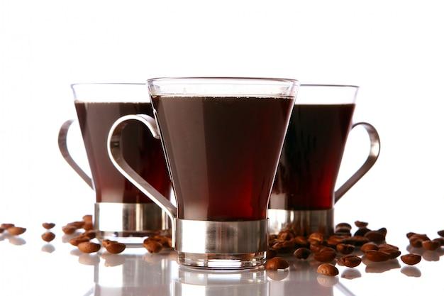 Taza de café recién hecho