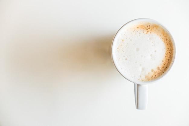 Taza de café vista superior