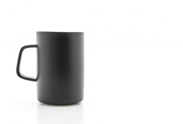 Taza de cerámica negra