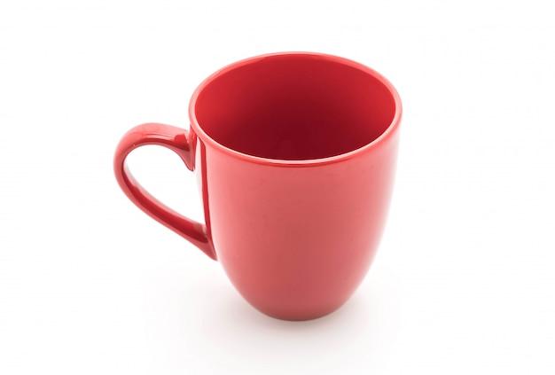 Taza de cerámica roja