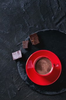 Taza de chocolate caliente