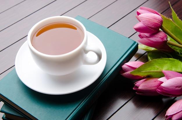 Taza de té en concepto de catering