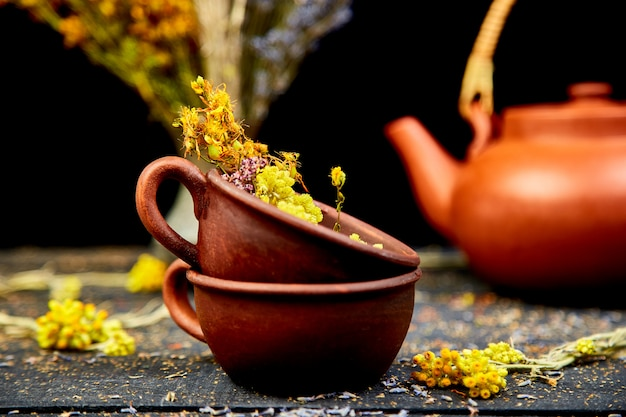 Taza de té de hierbas