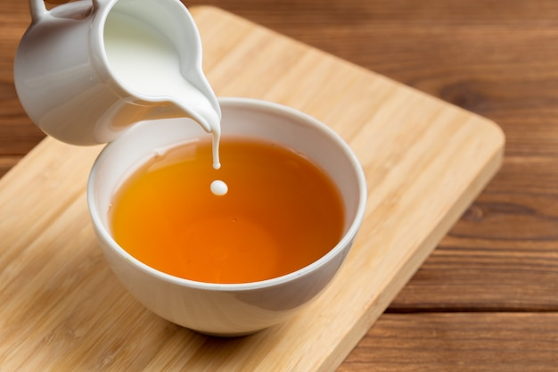 Taza de té de la mañana