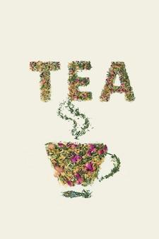 Taza de té, placer de té de frutas secas