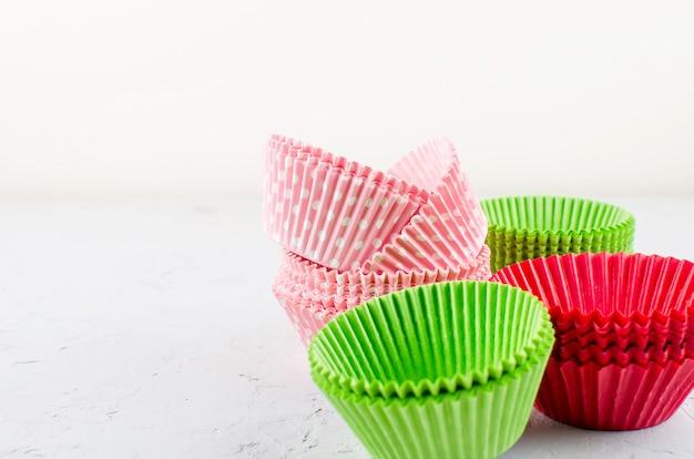 Tazas de papel para hornear cupcakes y muffins