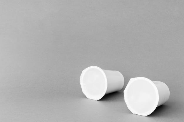 Tazas selladas de productos lácteos