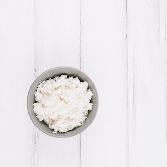Tazón con arroz hervido