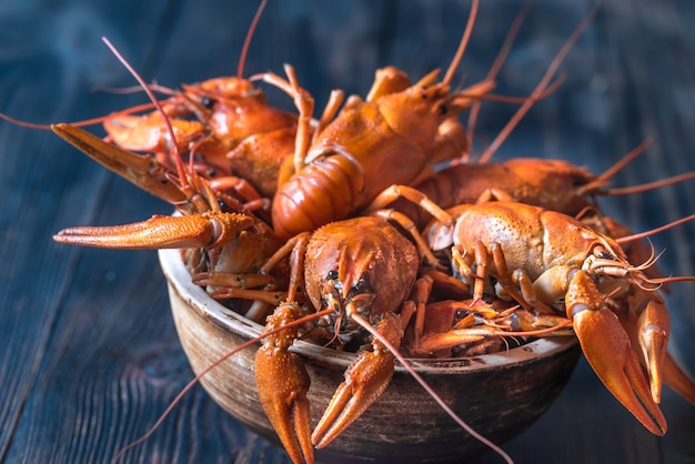 Tazón de cangrejo hervido