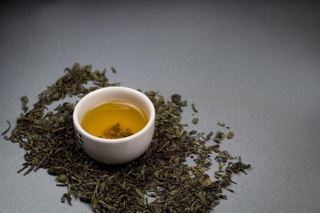 Tazones de té verde
