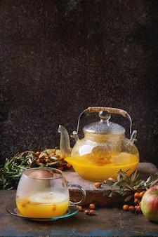 Té de bayas y espino amarillo