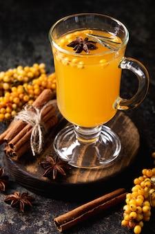 Té delicioso y saludable de espino amarillo