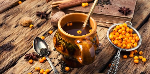 Té con espino amarillo